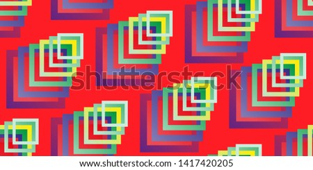 Seamless background. Squares. Scattered squares. Abstract background. Duplicate elements. Square shapes. Vector graphics