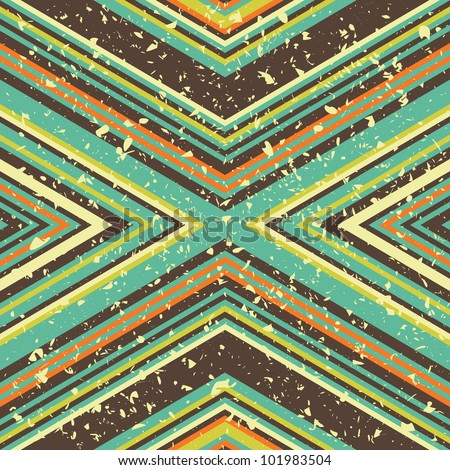 Seamless background texture with many stripes and grunge effect, vector pattern