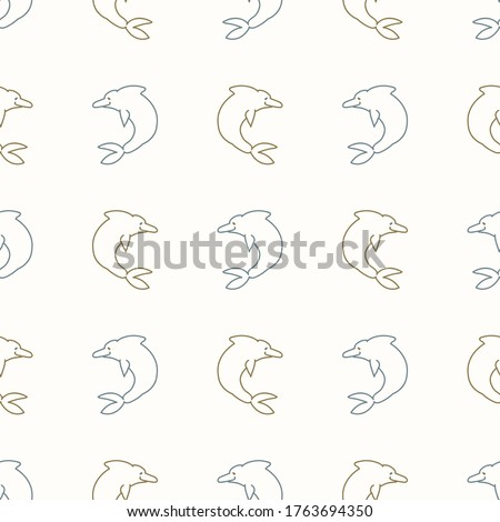 seamless background two dolphin