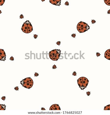 seamless background two ladybug
