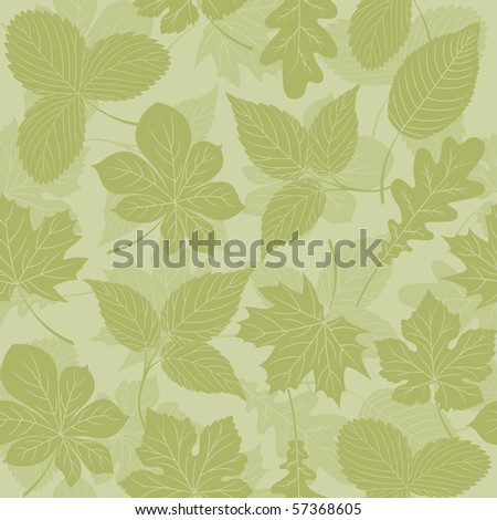 Seamless background with a leaves. Vector illustration.
