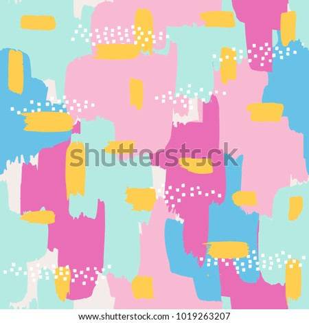seamless background with abstract brush strokes ornament