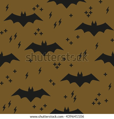 seamless background with bats