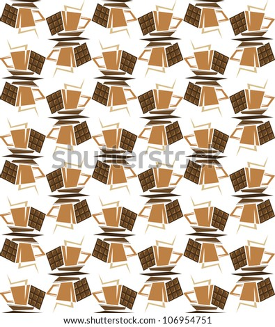 Seamless background with coffee cups for beverage design. Jpeg version also available in gallery