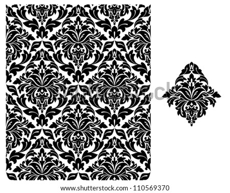 Seamless background with floral pattern for design. Jpeg version also available in gallery