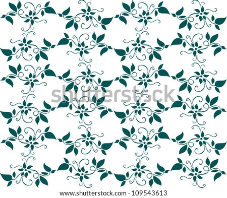 Seamless background with floral patterns for wallpaper design. Jpeg version also available in gallery - stock vector