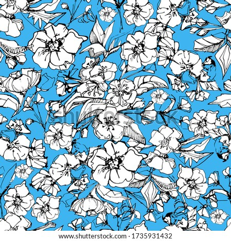 seamless background with flower