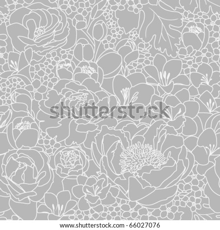 seamless background with flowers ornament - stock vector