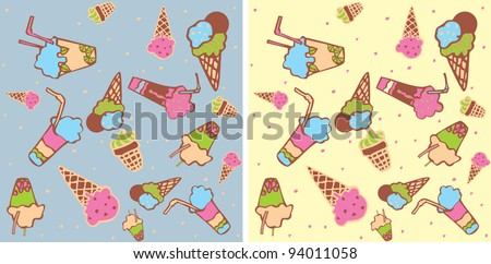 Seamless background with ice-cream