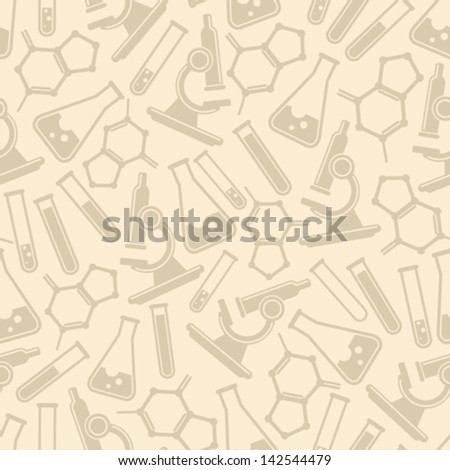seamless background with laboratory equipment