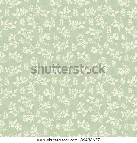Seamless background with light green roses