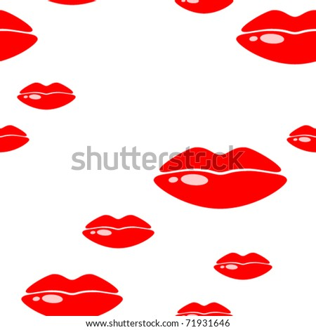 Seamless background with lips. Vector illustration