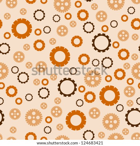 Seamless background with steampunk gears.