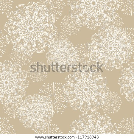 seamless background with winter snowflakes for your design