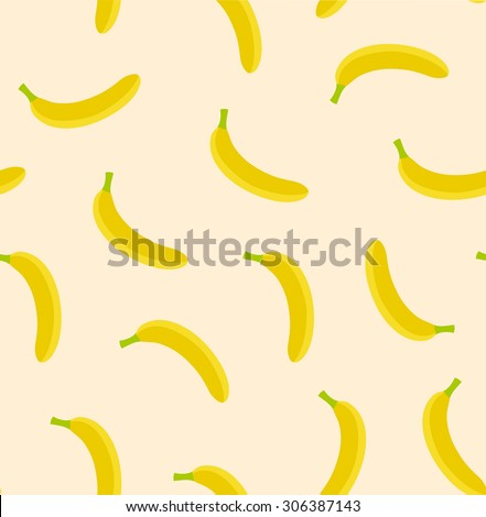Seamless banana seamless texture. Ecuador eco product pattern. Diet vector background.