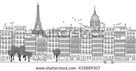 seamless banner of paris