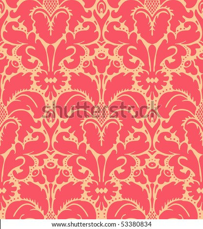 Seamless baroque style damask background