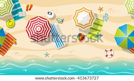 seamless beach resort with