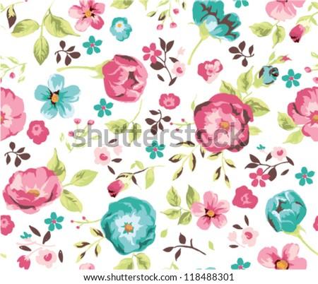 seamless beautiful flower pattern background