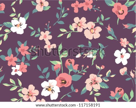 seamless beautiful flower pattern pattern background
