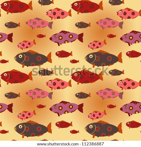 seamless beautiful ocean pattern