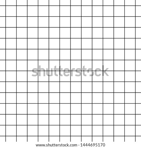 Seamless black and white cell grid striped isolated on white background