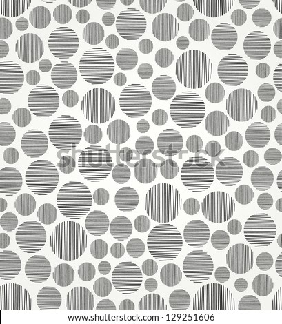 Seamless black and white circle pattern. Endless linear decorative pattern. Template for design