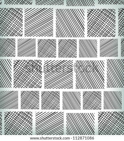 Seamless black and white geometric abstract pattern. Ethnic linear seamless texture