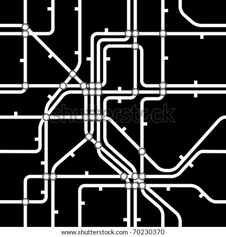 Seamless black background of metro scheme