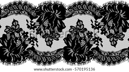 seamless black vector lace