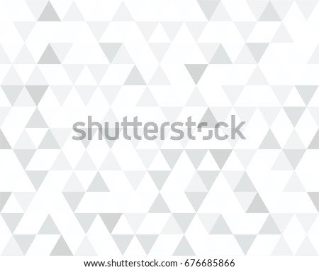 Seamless Black, White and Grey Triangle Pattern. Vector Background. Geometric Abstract Texture.