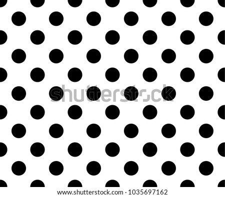 simple black and white pattern with dots - download free vector art