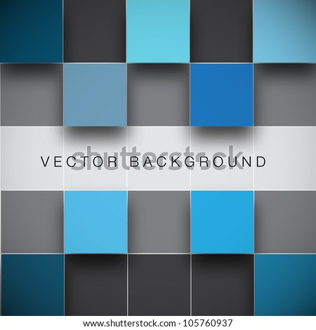 Seamless blocks structure vector background