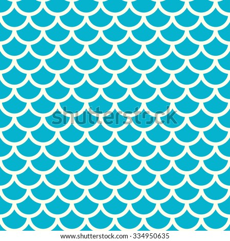 Seamless blue and grey fish pattern, fish scale background - vector illustration