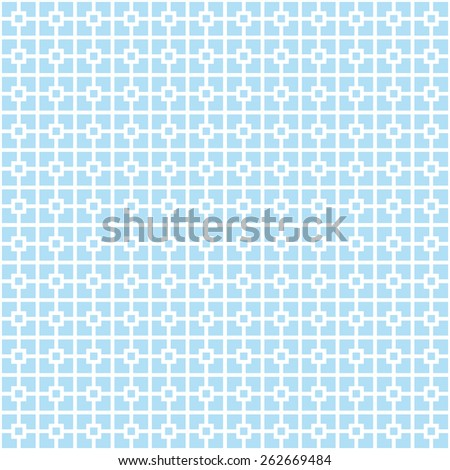 Seamless blue classical architecture square pattern vector