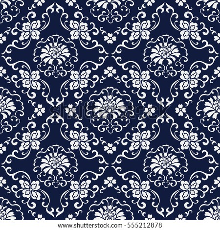 seamless blue japanese