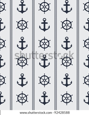 Seamless blue nautical background pattern design
