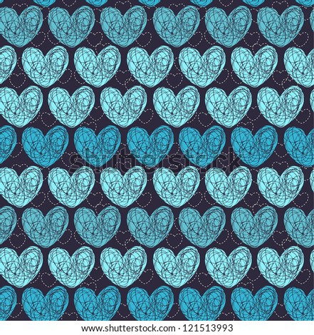 seamless blue pattern with
