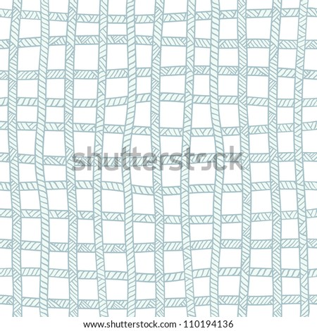 Seamless blue plaid rope pattern. Vector illustration