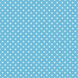 Seamless blue polka dot background pattern