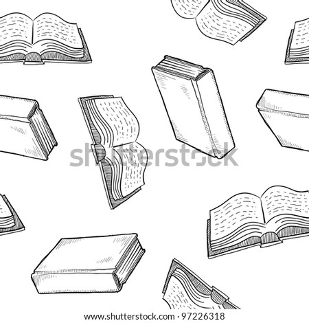 Seamless book, library, or education background texture in vector format ready for tiling