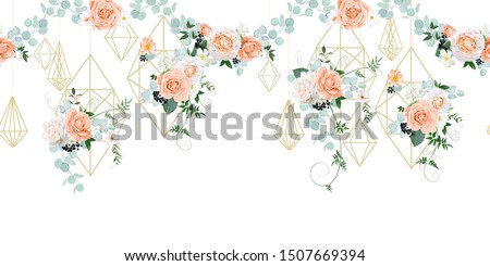 seamless border with wedding
