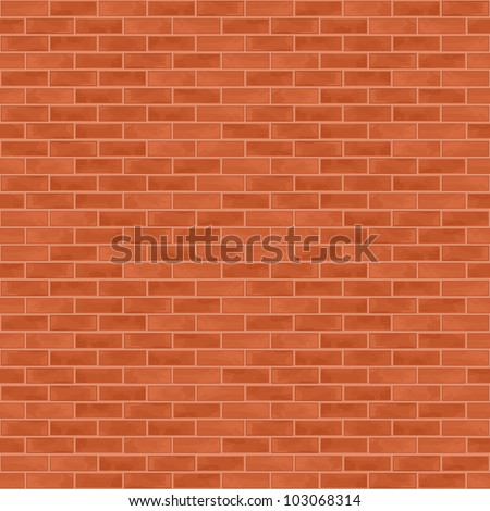 Seamless brick wall background, vector eps10 illustration