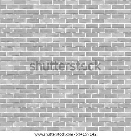 Seamless brick wall background, white brick wall, vector eps10 illustration