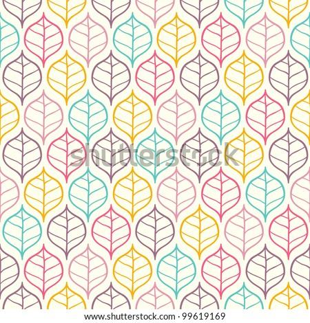 Seamless bright leaf pattern. Vector illustration