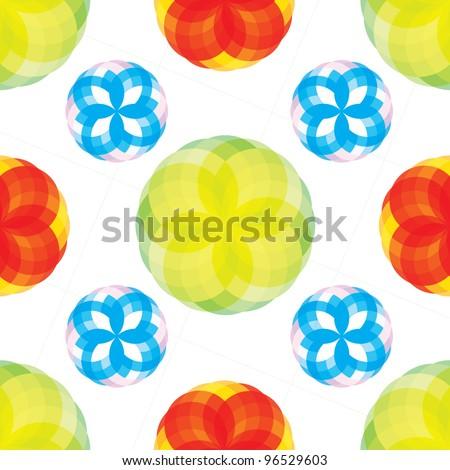 Seamless bright pattern with kaleidoscope
