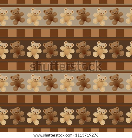 stock-vector-seamless-brown-background-vector-illustration-with-plush-teddy-bears-for-kids-in-brown-and-beige