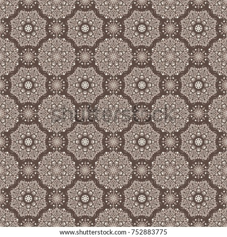 stock-vector-seamless-brown-background-with-mandala-pattern-vector-illustration-ideal-for-printing-on-fabric