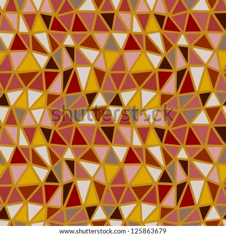 Seamless brown geometric pattern.