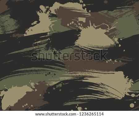 Seamless Brush Stroke Camouflage Pattern